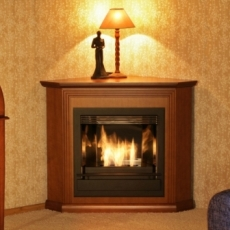 Угловой классический биокамин hogart wood